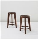 Pierre Jeanneret, Stools from Punjab University, Chandigarh, India, model no. PJ-SI-22-A (2 works)
