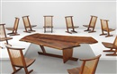 George Nakashima, Custom Sanso table and Conoid lounge chairs (set of 10 works) (11 works)