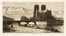 Charles Meryon, L'Abside de Notre-Dame de Paris (+ 2 others; 3 works)
