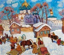 Moishe (Moissey) Kogan, Winter Scene