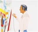 Alex Katz, Larry Rivers painting