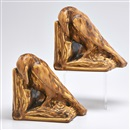 Rookwood Pottery, Production bookends with rooks in Brown Mat (pair)