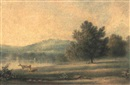 Kissing Point from Concord, Morning 1846 by Henry Curzon Allport