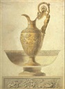 Design for a ewer with cross-section of a basin by Robert-Joseph Auguste