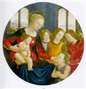 The Madonna and Child with the Infant Saint John the Baptist accompanied by angels, a landscape and a view of Venice beyond by Domenico Bigordi Ghirlandajo
