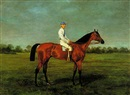 Racehorse with jockey by John Arnull