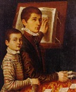 Portrait of a young boy and his tutor by Sofonisba Anguissola