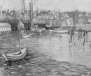 Boats in the harbor by Eunice Fais Jackson