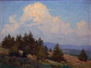 Hillside and spruce by Norwood Hodge MacGilvary