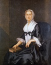 Portrait of Mrs. Philip Livingston seated with book by John Wollaston