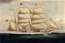 The three-masted Spanish barque