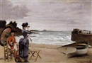 A la plage by Jules Charles Aviat