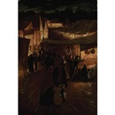 The fairground by night by James Macbeth