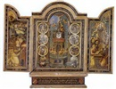 The Crucifixion; The Annunciation; The Assumption of the Virgin; The Coronation of the Virgin (triptych) by  German-Flemish School (16)