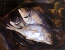 Still life of fish by Irmin Henkel