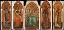 The Madonna and Child enthroned with Angels (+ 4 others, lrgr; set of 5) by Bernardo Daddi