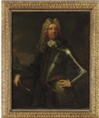 Portrait of a military commander holding a baton, in armor by Thomas Murray