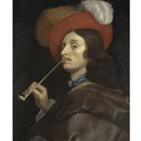 A cavalier smoking a pipe by Theodor Rombouts