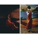 Native women of South India: Manners and customs Lady in moonlight (+ Returning from the tank; 2 works) by  Pushpamala N.