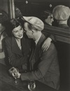 Couple at the Bal des Quatre-Saisons, rue de Lappe by  Brassaï