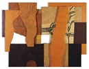 Orange landscape (diptych) by Nazar Yahya