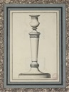 Design for a candlestick by Jean Guillaume Moitte