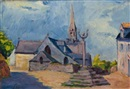 La Place de Nizon (Finistere) by Jacques Gaston Emile Vaillant