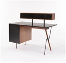 Desk with top storage unit by Greta Magnusson Grossman