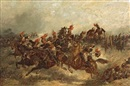 The cavalry charge by Col. F.S. Seccombe