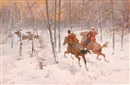 The reindeer hunt by Rudolf Frentz the Elder