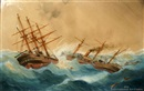 The hms calliope and Trenton incident by George Frederick Gregory