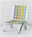 Smarties geometries chair by Mattia Bonetti