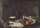Still life with braided dish by Julijs Vilumainis