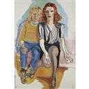 Jackie Curtis and Rita Red by Alice Neel