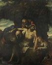 La mise au tombeau by Domenico Tintoretto