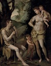 Adam and Eve with Cain and Abel by Jacopo (da Empoli) Chimenti