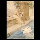 Roman woman with swan by Domenico Pennachini