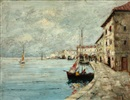 Harbour from Provence by Rudolph Negely