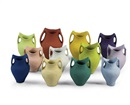 Coloured pots (in 12 parts) by  Ai Weiwei