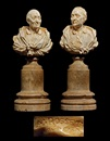 Bust of Voltaire (+ Bust of Montesquieu; pair) by Claude Antoine Rosset