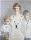 Portrait of William, Winifred M. and Burrowes Hunt by Rae Sloan Bredin