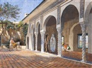 Courtyard scene, Algiers by David Emile Joseph de Noter