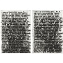 Invisible man, two views (in 2 parts) by Glenn Ligon