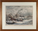 American farm scenes (set of 4) by Nathaniel Currier