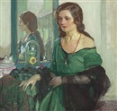Lady in green by Richard Edward Miller