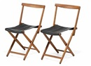 Folding chairs (pair) (model JH-813) by Torsten Johansson