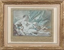 Tête de jeune fille (after François Boucher)(+ 4 others, various sizes; 5 works) by Louis Marin Bonnet