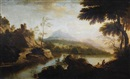 A capriccio with the eagle's nest on the horizon by George Barret