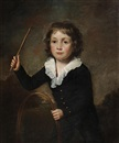 Portrait of a young boy with a hoop by John Watson Gordon