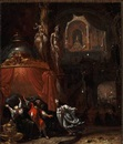 Pinchas killing Zimri and Kozbi, daughter of the prince of Midian by Rombout van Troyen